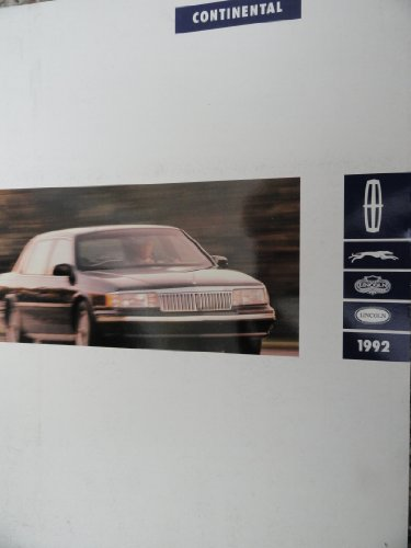 1992 Lincoln Continental Sales Brochure