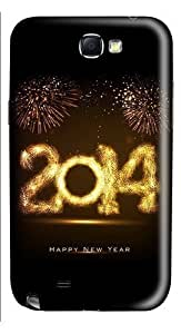 2014 Happy New Year Light Painting Bokeh Custom Hard Back Case Samsung Galaxy S3 SIII I9300 Case Cover - Polycarbonate - White