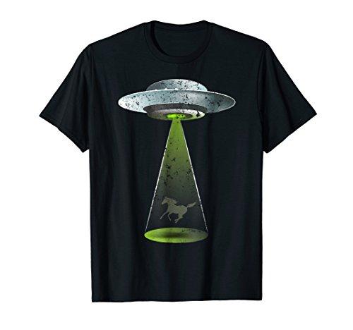 UFO Abduction Shirt Palomino Horse Equestrian UFO T Shirt