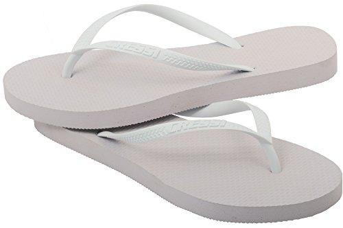 Cressi Marbella - Chanclas Flip Flops para Mujer - Playa y Piscina Blanco