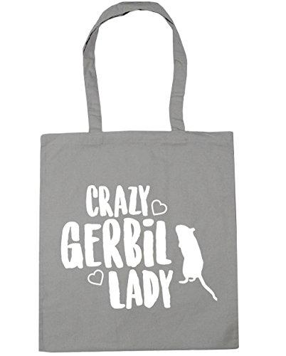 Tote x38cm litres HippoWarehouse Crazy 42cm Bag lady gerbil 10 Grey Shopping Gym Beach Light y4tpS4Uc