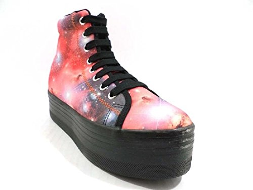 JEFFREY CAMPBELL JC Play by Sneakers Zeppe Donna 39 EU Multicolor Tessuto AY800