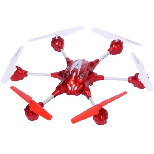 Goplus W609-10 4.5CH 2.4G Remote Control RC Gyro RTF Hexacopter w/ HD Camera Red by Unbranded*