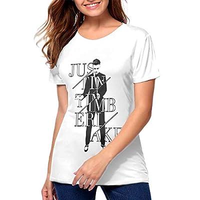 ROWANJEFFERS Justin Timberlake Womens T Shirts Women's Blouse White