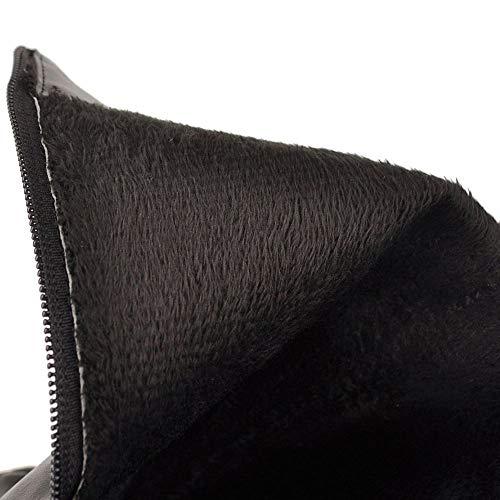 Femmes Boots Longue Fermeture Noir Éclair 2 Taoffen Plates Bottes RxPOPHq