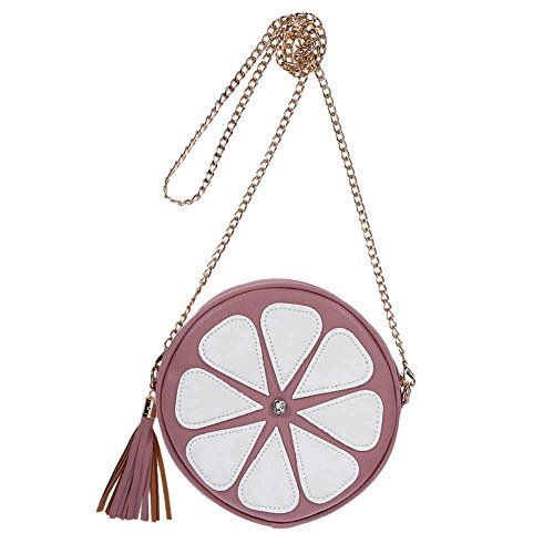 Domybest Round Handbag Shoulder Bag Tassel Cross Bags Messenger Mini Bag Pink Body Fashion Chain Women nUYrn41F