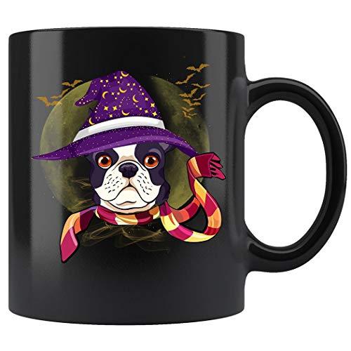 French Bulldog Witch Hat Flying Bats Halloween Mug Coffee Mug 11oz Gift Tea Cups 11oz