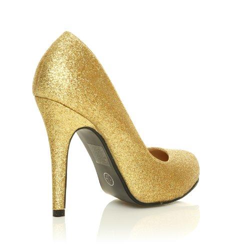 ShuWish UK , Escarpins pour femme Or Doréà paillettes Oro (Glitter Oro)