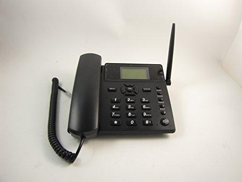 Wireless GSM Desk Desktop Cell Phone Speaker SMS SIM Card Quadband