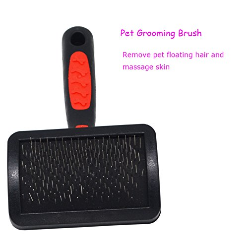 AOAMEET 4 pcs Pet Grooming Tool Kit (Fine-tooth Comb,Pet Grooming Brush, Pet Nail Clippers, File) for Dog Cat by AOAMEET (Image #1)'