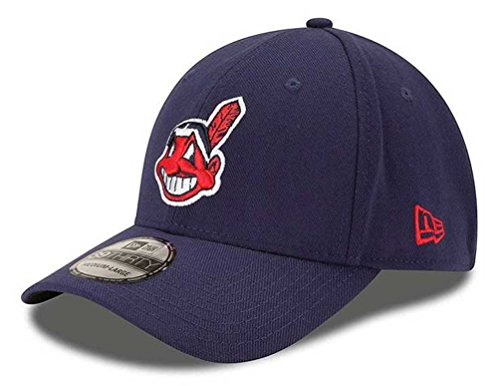 (MLB Cleveland Indians Team Classic Alternative 2 39Thirty Stretch Fit Cap, Blue,)