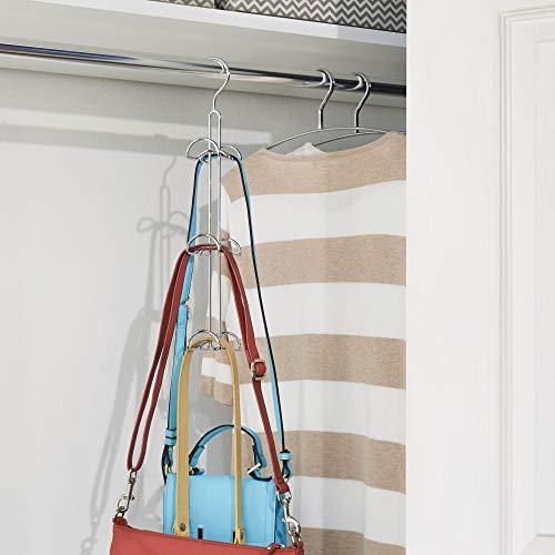 iDesign Axis Metal Hook Hanger, No Snag Closet Organization Storage Scarves, Men's Ties, Women's Shawls, Pashminas, Belts, Accessories, Clothes, Handbag Holder