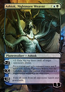 Ashiok, Nightmare Weaver - Casual Play Only - Customs Altered Art Foil