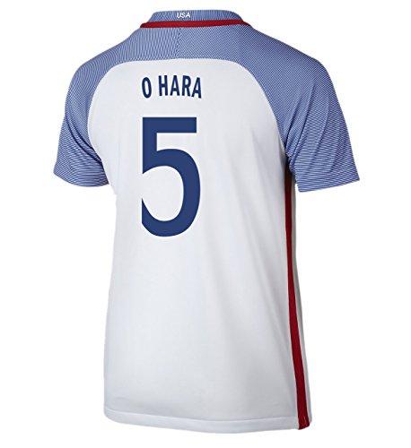 (Nike O Hara #5 USA Home Soccer Jersey Rio 2016 Olympics Youth. (YXS) White)