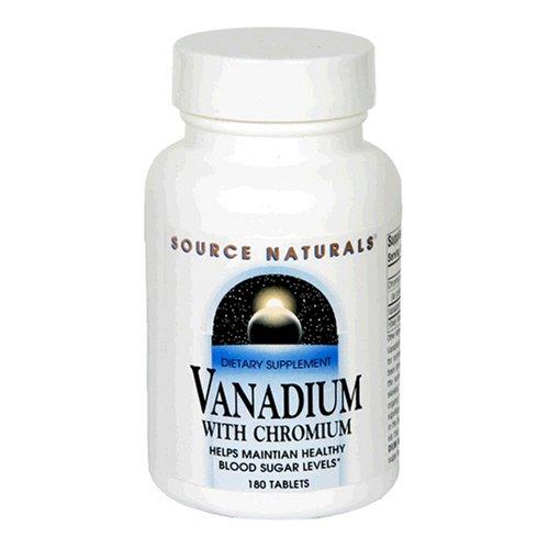 Source Naturals Vanadium avec chrome, 180 Tablets (Pack de 2)