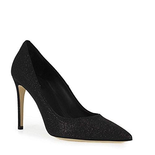 Women's Shoes Dsquared2 Black Glitter Pump Summer 2018 eJJTe0jkR