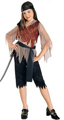 Swashbuckler Girl Pirate Caribbean Costume NIP 4-6