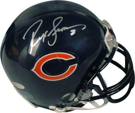Rex Grossman Autographed Football - Rex Grossman Signed Steiner Mini Football Helmet-Mini