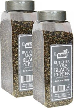 Badia Pepper Black Butcher Block 16 oz Pack of 2
