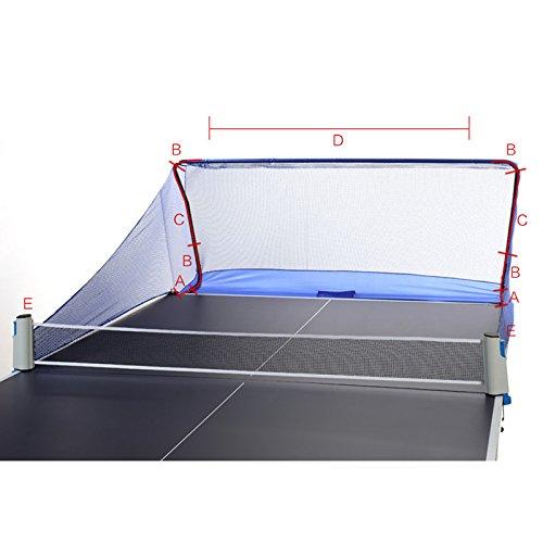 Full 90 Table Tennis Balls Catch Net Ping Pong Training Equipment Serve Robot Practice by Full 90