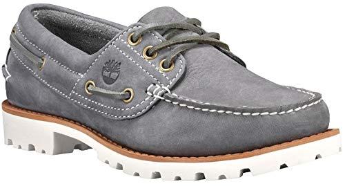 - Timberland Womens Noreen Lite Moc Toe Loafer, Medium Grey Nubuck, Size 9