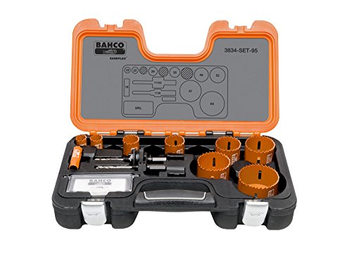 Bahco 3834 Professional Holesaw Set 16-64mm by Bahco