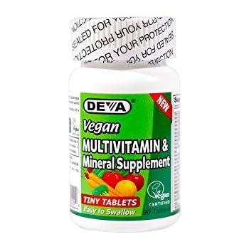 Deva Vegan Multivitamin, Mineral Supplement, Tiny Tablets, 90 Ct (2 Pack)