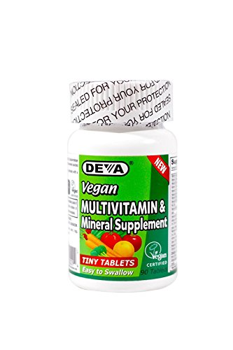 Deva Vegan Multivitamin, Mineral Supplement, Tiny Tablets, 90 Ct (2 Pack)