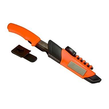 Morakniv Bushcraft Stainless Steel Survival Knife with Fire Starter and Sharpener, Orange