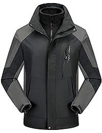 Mokaya Mens Hooded Jacket Insulated Raincoat Waterproof Fleece Lined Softshell