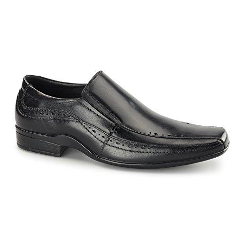 Front SEALEY Mens Leather Smart Slip On Shoes Black Black nTnX6ybepN