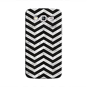 Cover It Up - Silver Black Tri Stripes Galaxy J2 Hard case