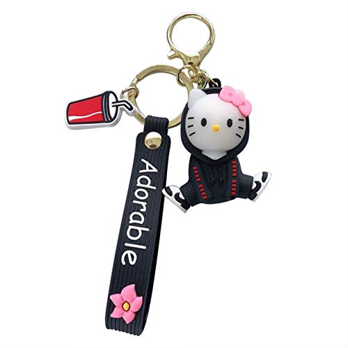 Keychain Arrive Disney Cartoon Stitch Mickey Minnie Keychains Mouse Silicone Doll Key Chain for Girls Bag Charms Car Pendant Keyrings Key Ring (Color : 3, Size : Normal)