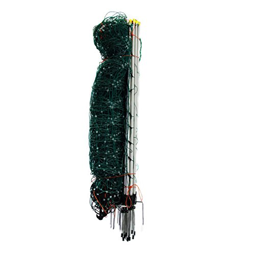 Farmily Portable Livestock Electric Net Fence 42 Inch Green Color with Step In Posts