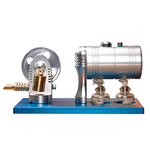 - SODIAL Metal Bootable Steam Engine Model Retro Hot Air Stirling Engine Model with Heating Boiler Alcohol Burner Hobbies Gifts