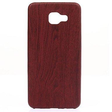 Casos hermosos, cubiertas, madera en forma fina y delgada caja del teléfono de cuero perfectamente suave para la galaxia A310 / A510 / A710 (2016) ( Color : Marrón , Modelos Compatibles : Galaxy A3(20 Marrón