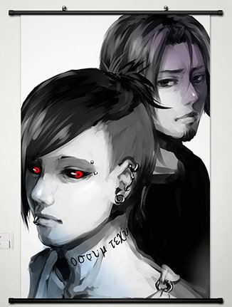 Tokyo Ghoul Wall Scroll Poster Fabric Painting For Anime Uta