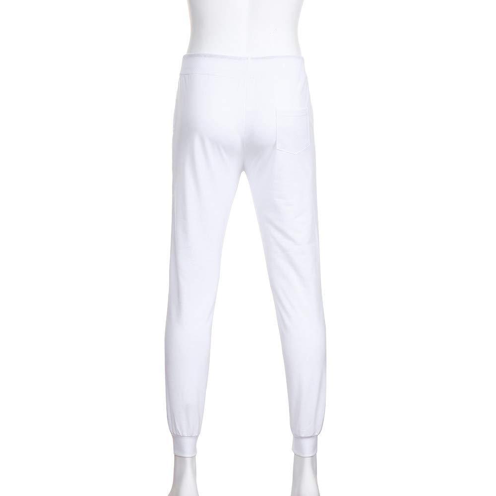 YanHoo Pantalones de chándal de los Hombres Pantalones Casuales de los Hombres Pantalones de Moda para Hombre Pantalones de Hombre Pantalones Casuales ...