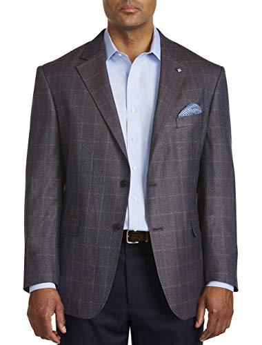 Oak Hill by DXL Big and Tall Jacket-Relaxer Tonal Herringbone Sport Coat