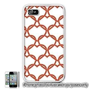 Red Interlocking Hearts Love Monogram Pattern For Samsung Galaxy S3 I9300 Case Cover Skin White