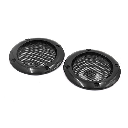 uxcell a17052200ux1212 2pcs 2 Inch Black Metal Mesh Car Stereo Speaker Subwoofer Cover Grill Protector, 2 Pack