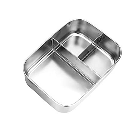 2250662bb228 Amazon.com: Mikash SSingle layer Portable Stainless Steel Lunch Box ...
