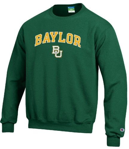 Baylor Bears Stadium Powerblend Screened Crew Sweatshirt by Champion (XX-Large) ()