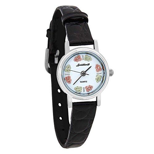 Landstroms Black Hills Silver Ladies Leather Watch ()
