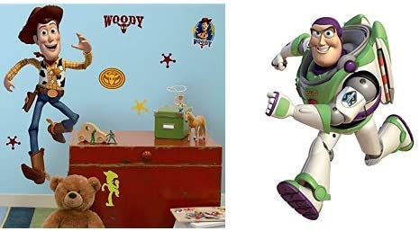 Toy Story Buzz Woody Jessie 9 Inch Large Square Lunch Dinner Plates Buzz