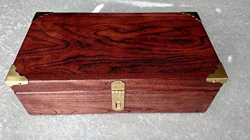 Black Cherry Valet Box with Lid or Stash Box