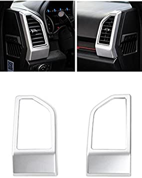 Silver Matt Niceautoitem 2Colors Dashboard Inner Side Air Outlet Vent Decorative Sticker Trim for Ford F-150 F150 2015 Up