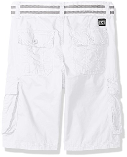 2ab687949d Southpole Boys' Big Belted Mini Canvas Cargo Shorts in, White, 12 ...