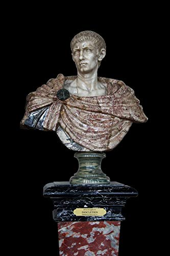 Roman Emperor Busts - Home Comforts Canvas Print Emperor Bust Roman Imperator Rome Vivid Imagery Stretched Canvas 32 x 24