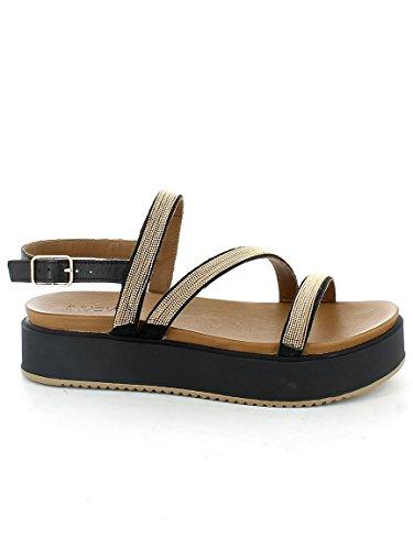 INUOVO 7461 Negro zapatos sandalias de plataforma NEGRO